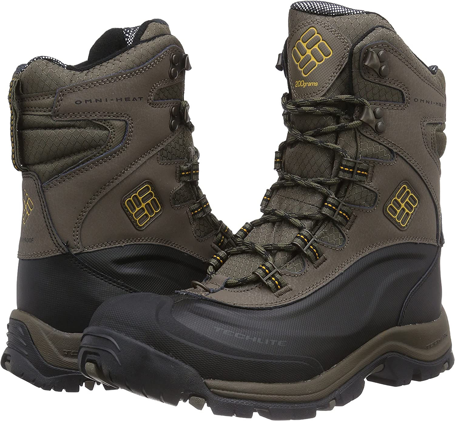 COLUMBIA MENS BUGABOOT PLUS 3 OMNI COLD WEATHER BOOT