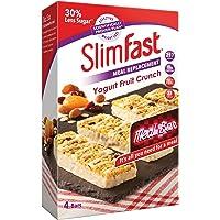 SlimFast Meal Replacement Bar Yogurt Fruit Crunch (4x Box of 4, Total 16 Bars)