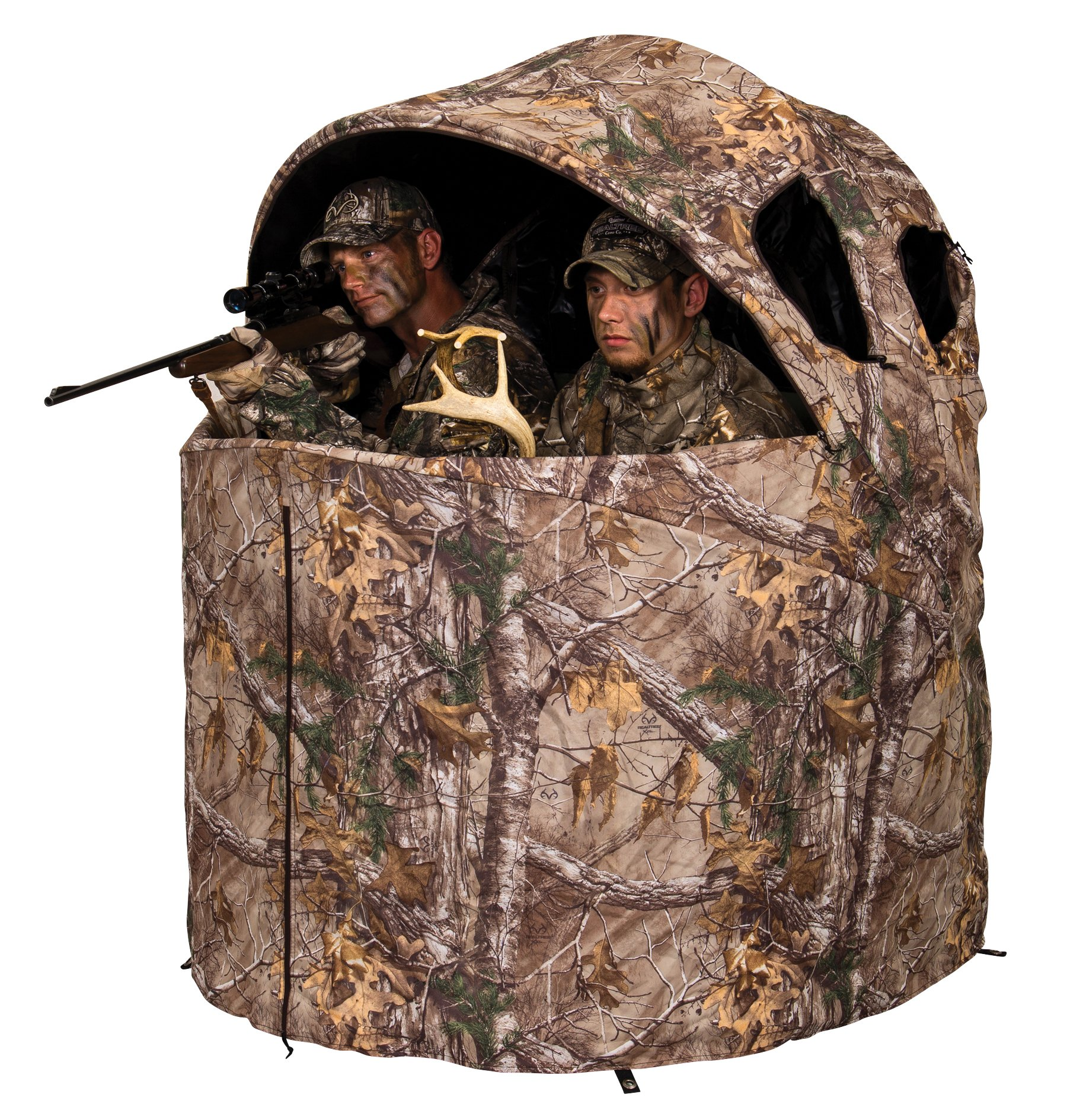 Ameristep Deluxe 2 Person Tent Chair Hunting Blind, Realtree Xtra