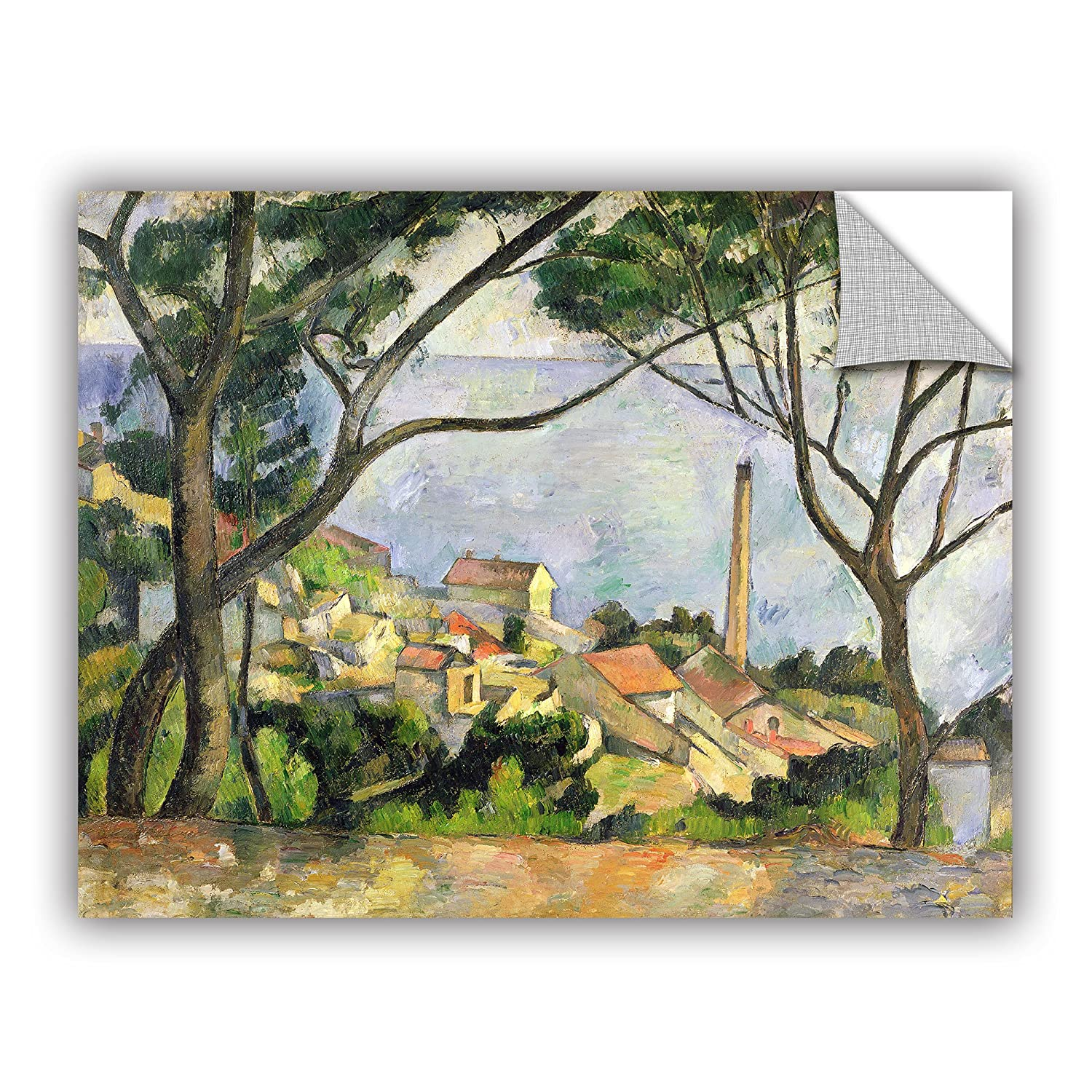 ArtWall Paul Cezannes The Sea at IEstaque Art Appeelz Removable Graphic Wall Art 18 x 24