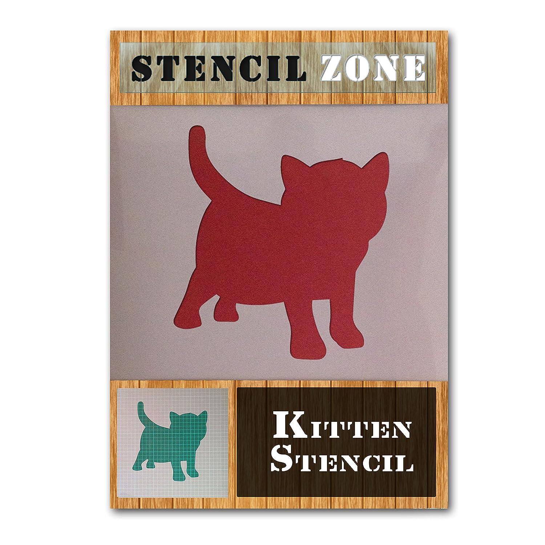 aus Mylar Katzenschablone zum Malen und Spr/ühmalen plastik Xlarge A1 Size Stencil dem Betrachter zugewandt