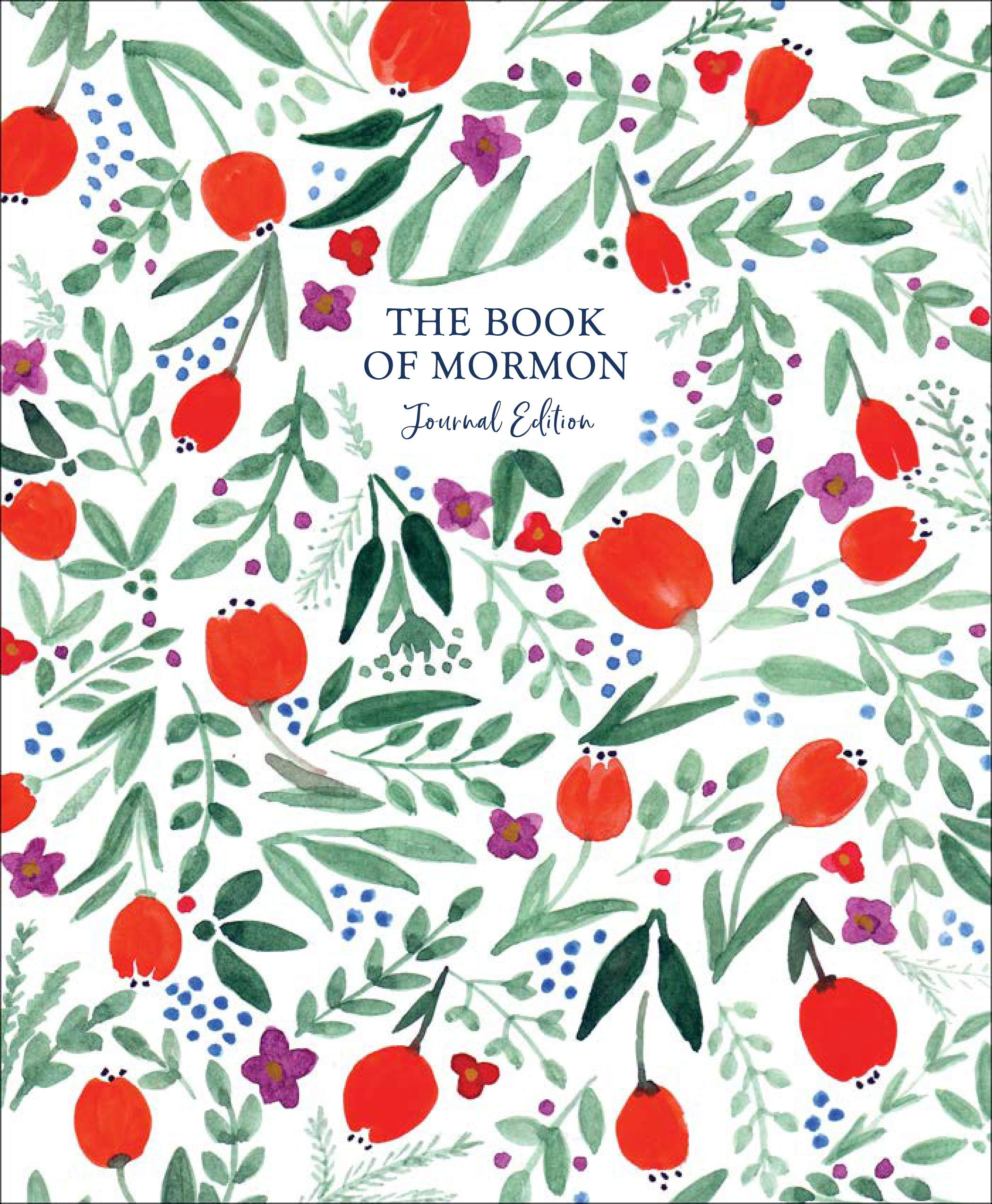 The Book of Mormon Journal Edition Red Floral–No Index