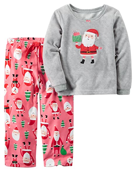 7a11b4b894 Amazon.com  Carter s Baby Girls  2-Piece Fleece Pajama Set (12 ...