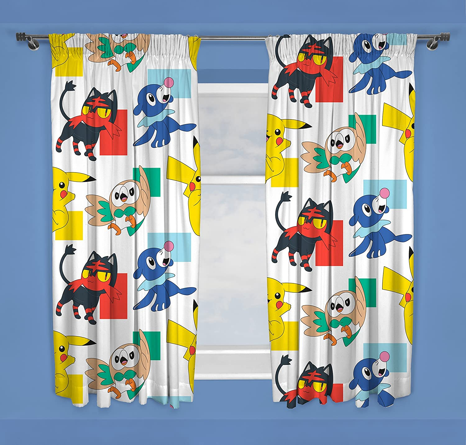 Pokemon Dash | Childrens Bedroom 54 Inch Curtains | Perfect For Any Kids Bedroom Character World PKNDAS54001UK