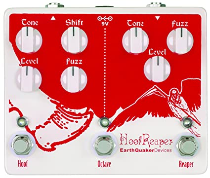 EarthQuaker Devices Hoof Reaper Double Fuzz Guitar Effects Pedal with  Octave Up