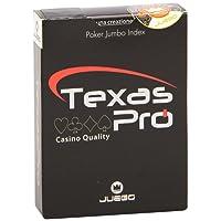 Juego JU90033 - Carte da Gioco Texas Hold'Em - 100% Plastica
