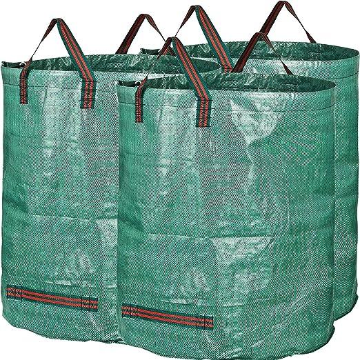 GJXY Bolsas de residuos de jardín, Sacos para desechos, Bolsas de Basura de jardín, Capacidad de 500 L, Plegable, Verde, 1Pack: Amazon.es: Jardín
