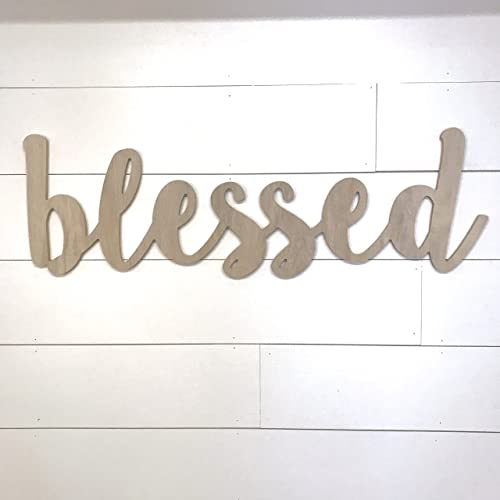 Blessed Sign Large Wood Cutout