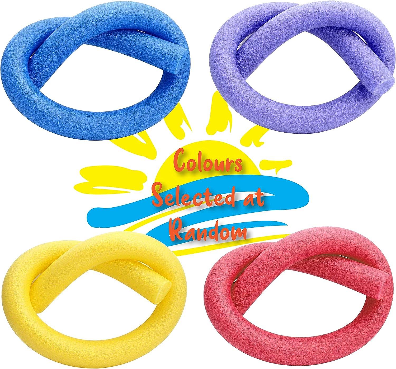 Summertime Days by Laeto 4 St/ück Multipack Schaumstoff-Schwimmbadnudeln ideal als Schwimmschwimmer f/ür Wassersport 4 Farben Nudel 1 von jeder Farbe