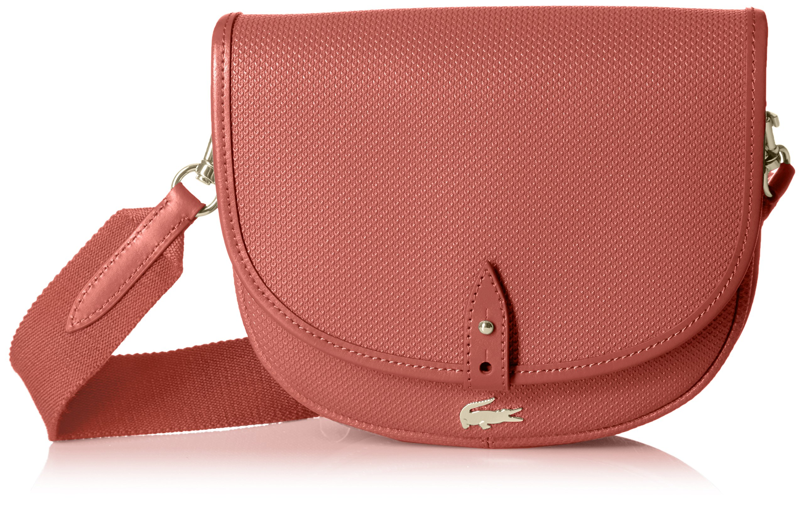 Lacoste Chantaco Round Crossover Bag, Mineral Red
