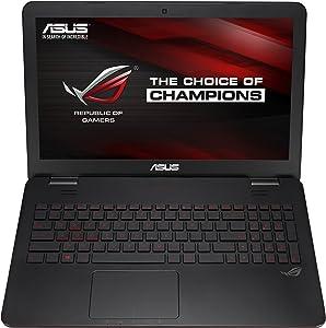 ASUS ROG GL551 Series GL551JM-DH71 15.6-Inch Gaming Laptop i7-4710HQ 16GB Memory, 1TB HDD, NVIDIA GeForce GTX 860M 2 GB Black/Red (Renewed)