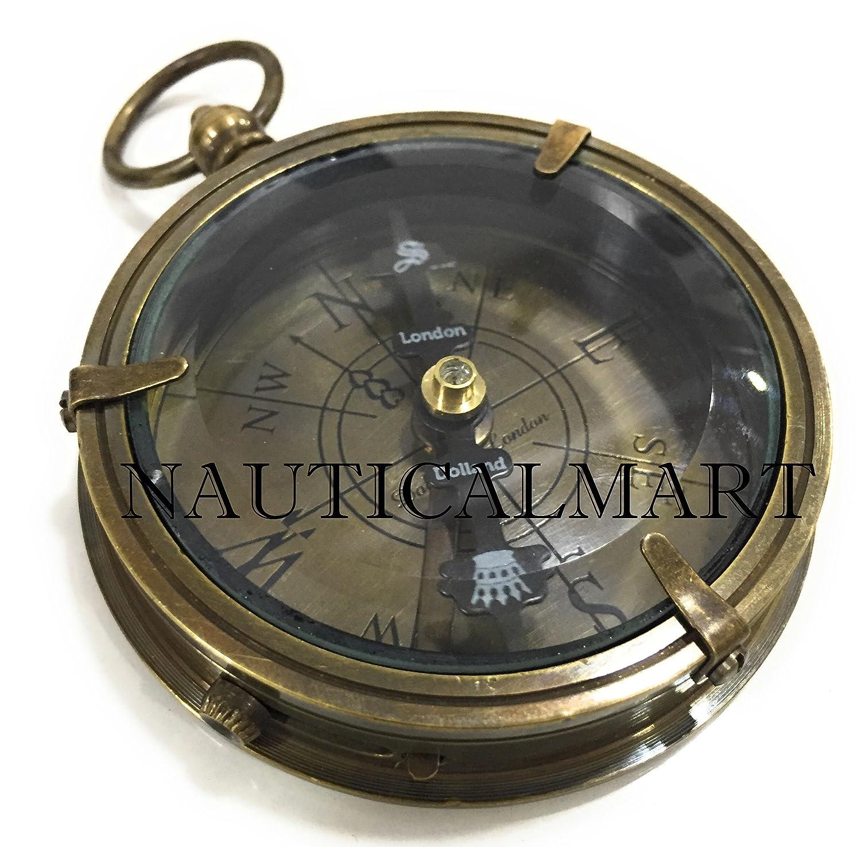 NAUTICAL MART Nautisches Mart Vintage Messing antik Navigation Kompass