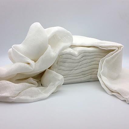 Gasas/spuck paños/pañales de tela, 70 x 80 cm, color blanco