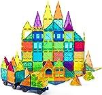 cossy Kids Magnet Toys Magnet Building Tiles, 120 Pcs 3D Magnetic