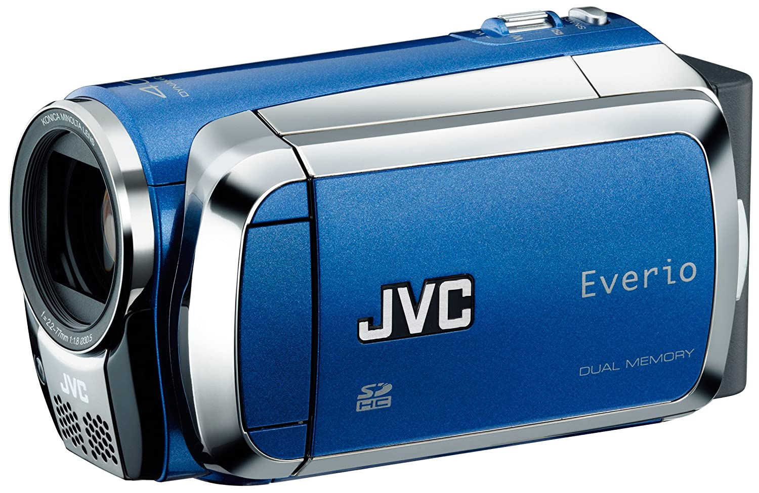 Amazon.com : JVC Everio GZ-MS120 Dual Flash Camcorder (Blue) : Camera &  Photo