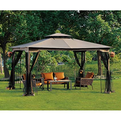 This Gazebo Offers A Stylish Way To Stay Out Of The Sun And Features A  10u0027x12u0027 Footprint With A Peak Height Of 8u00277u201d Ideal For Almost Anyone.