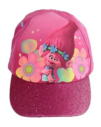 e7238e9e8b8 DreamWorks Official Licensed Girls Trolls Poppy Summer Baseball Cap Hat Age  8-12 Years Pink