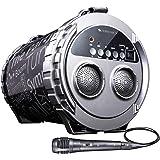 Zebronics Zeb-Super Bazooka Barrel Shape Portable with mSD, USB, FM, AUX, LED Display & Mic