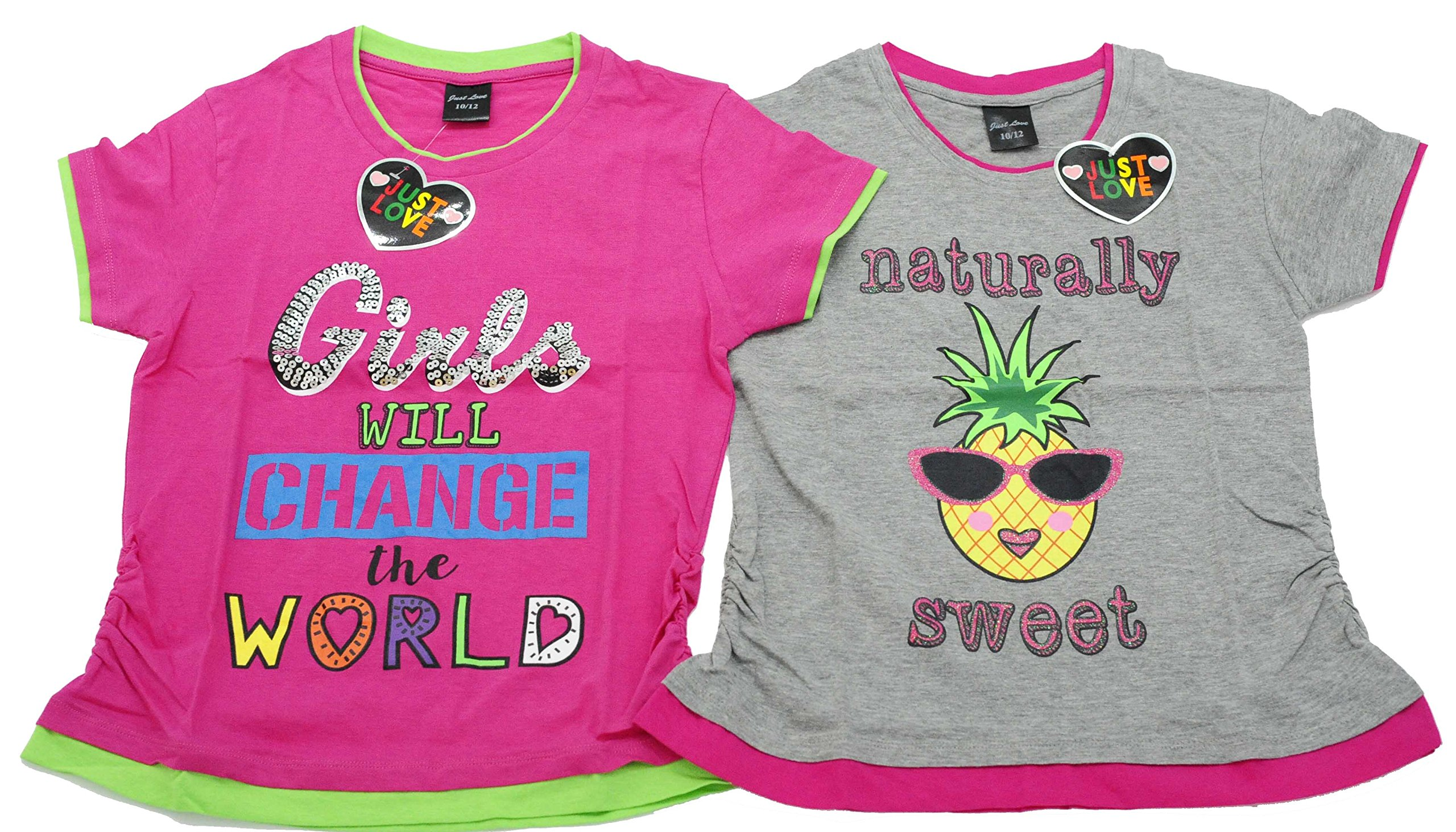 15501-Z-10-12 Just Love T Shirts for Girls (Pack of 2)