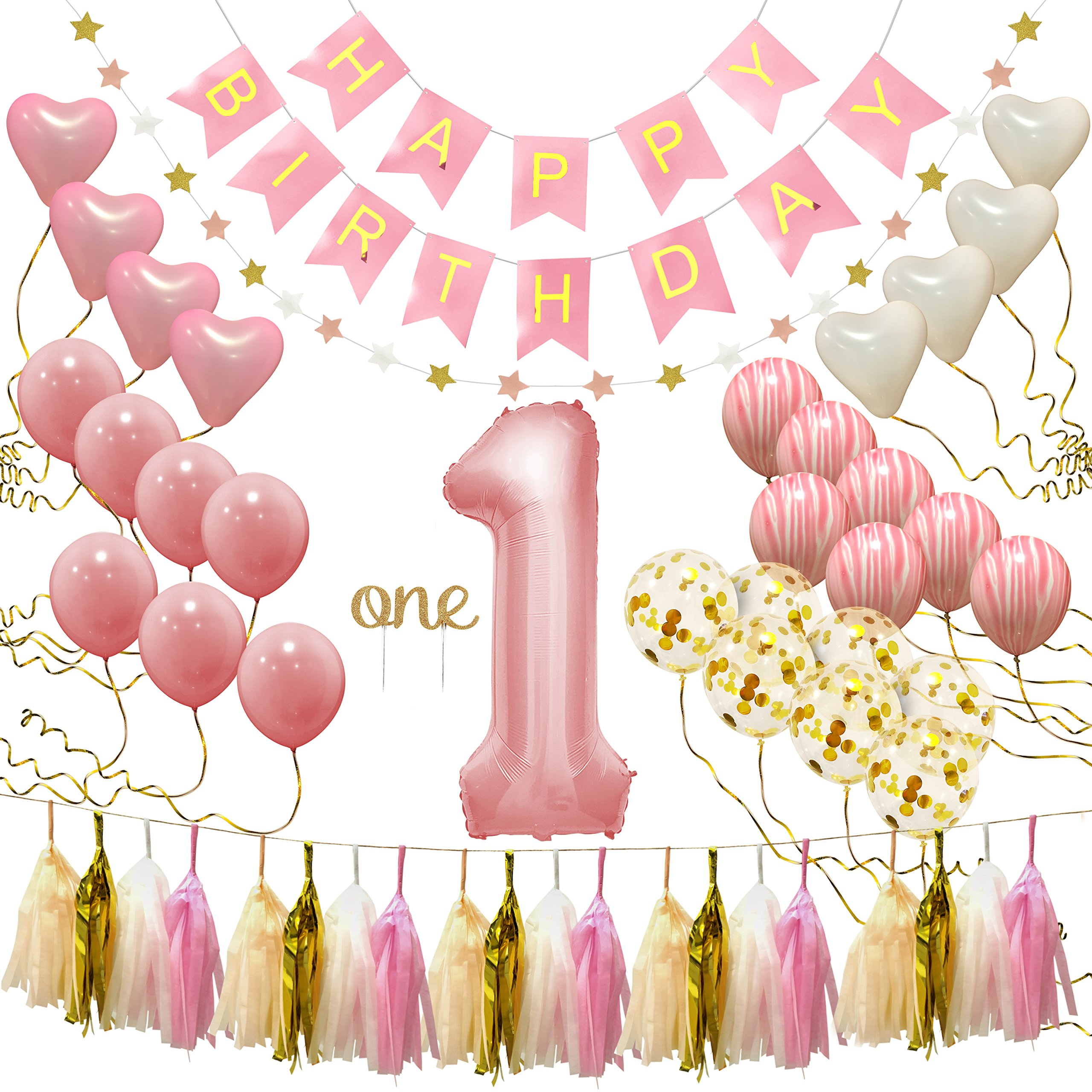 Details About First Birthday Decorations For Girl