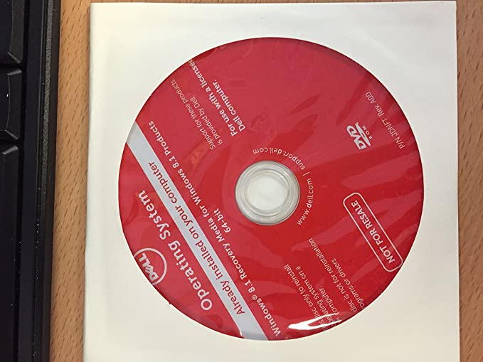 Amazon com: Dell Operating System Recovery DVD Windows 8 1