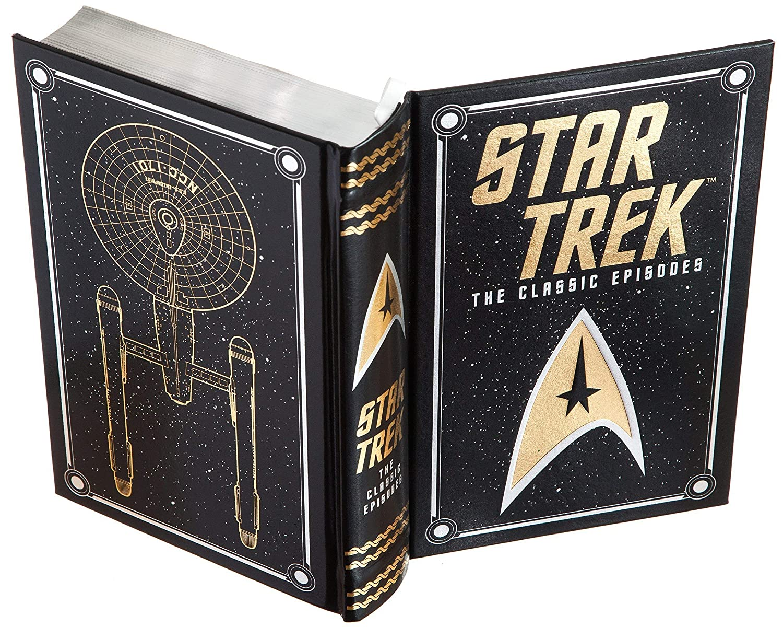 Leather-bound Star Trek Magnetic Closure Handmade Book Safe
