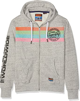 Superdry Ticket Type Stripe Ziphood Capucha para Hombre