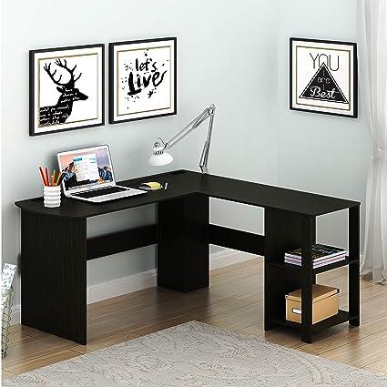 Delightful Amazon.com: SHW L Shaped Home Office Wood Corner Desk, Espresso: Kitchen U0026  Dining