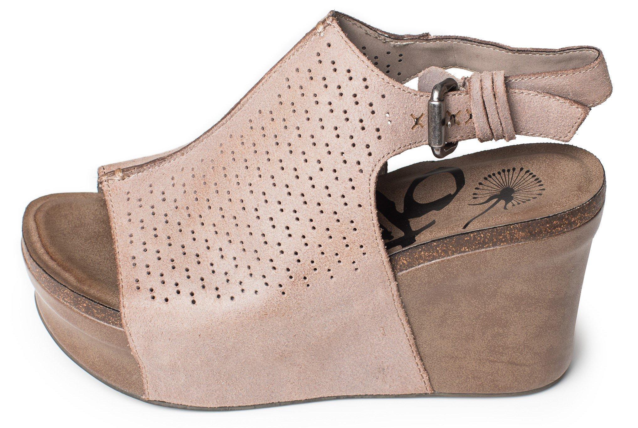 OTBT Women's Jaunt Wedge Shoe (7.5, Grey Powder)