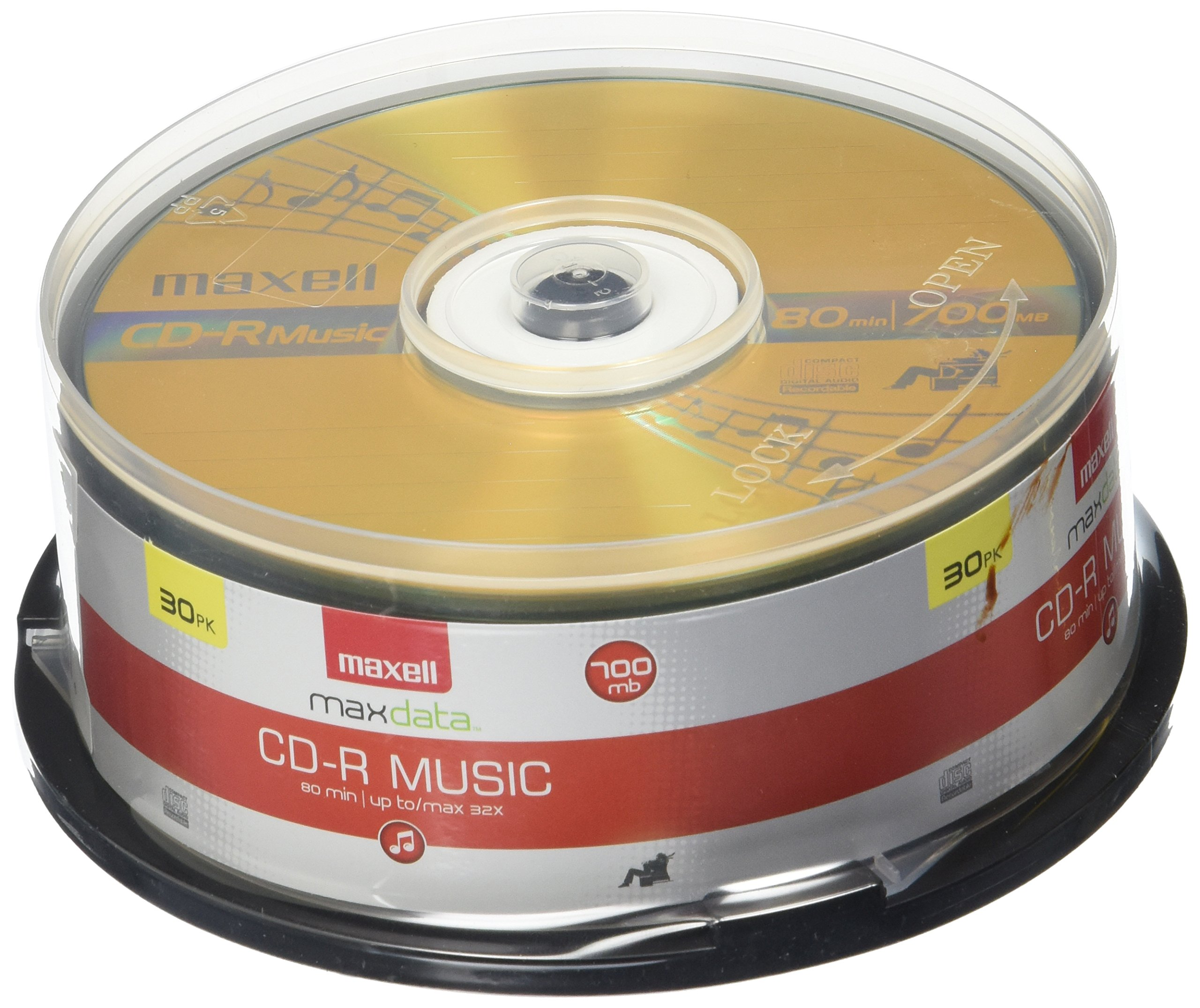 Maxell CD-R CD-R Discs Music Spindle 625156 50-pack Audio only Blank Media