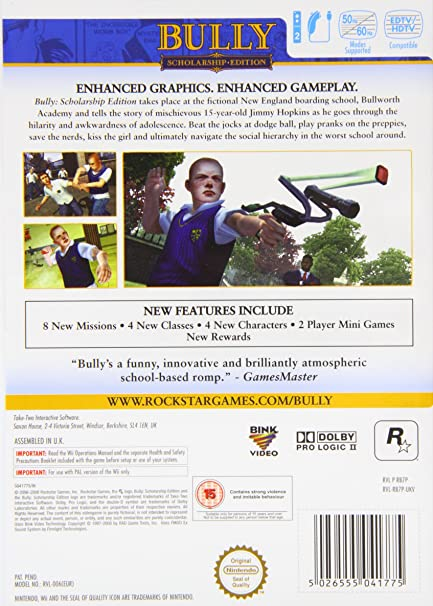 Bully: Scholarship Edition (Version Inglesa): Amazon.es: Videojuegos