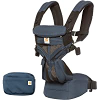 Ergobaby Omni 360 All-in-One Baby Carrier with Cool Air Mesh, Blue/Black (BCS360PRAVEN)