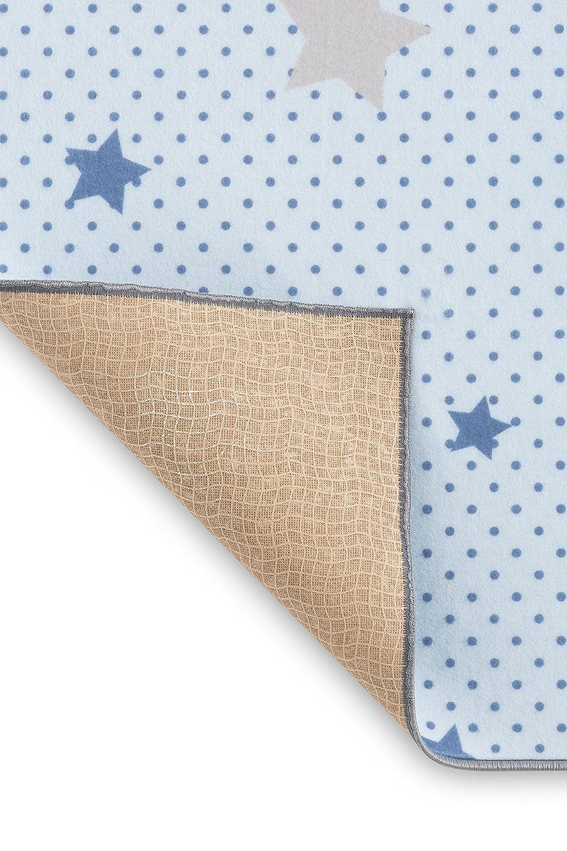 90 x 110 cm Piccola Casa 64509 color gris y azul Alfombra