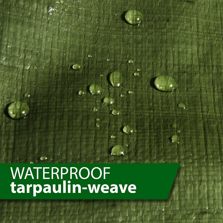 Tarps Waterproof 8 x 10 casa pura 4058171264413 Blue 3 oz//Sq Yd Large Tarpaulin in Multiple Sizes Ground Tent Trailer Cover