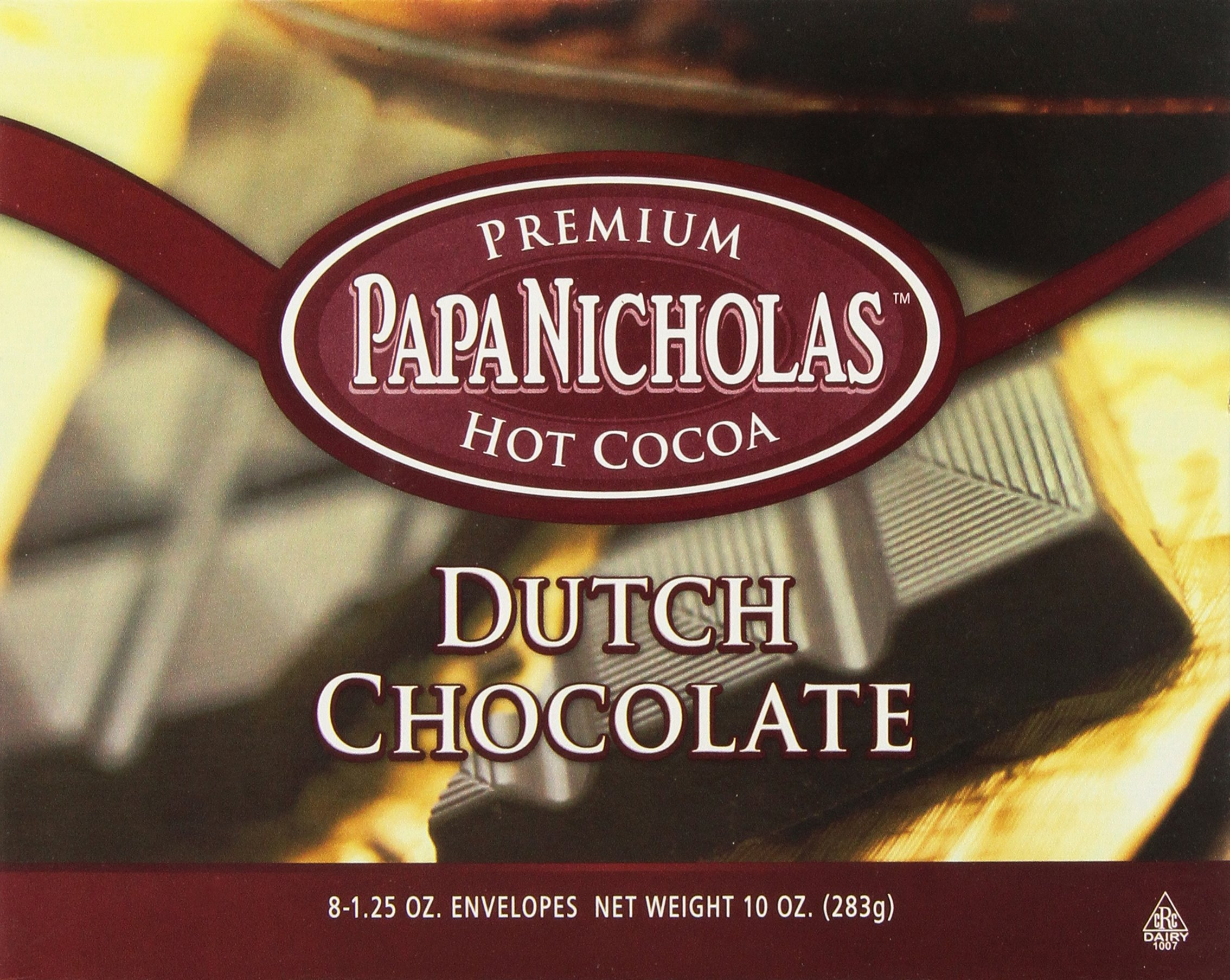PapaNicholas Coffee Dutch Chocolate Hot Cocoa, 8 Count (Pack of 12)