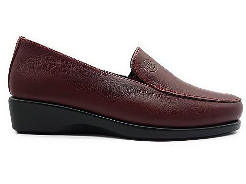 571b33225eb 48 HORAS 0301 Mocasin Mujer Burdeos 36  Amazon.es  Zapatos y complementos