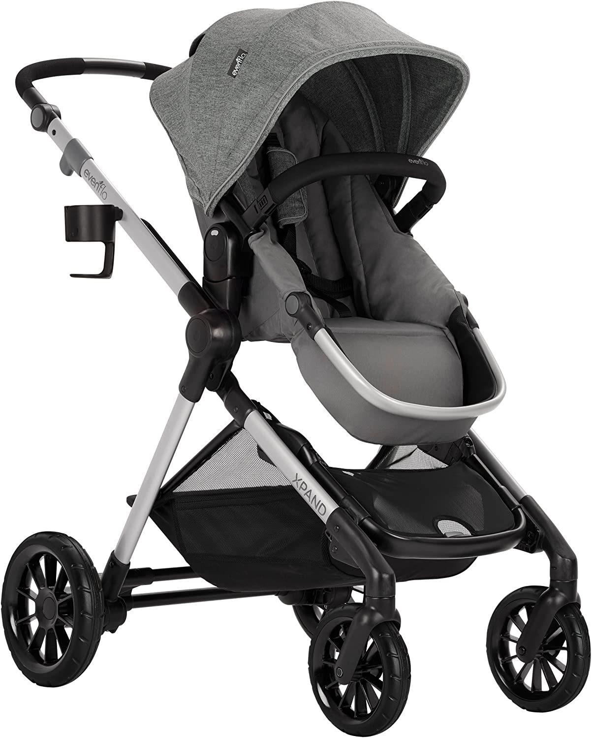 Lightweight Converts to Double Stallion Evenflo Pivot Xpand Modular Stroller