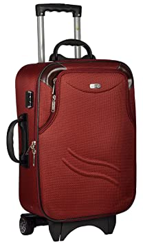 TREKKER Polyester 62 cms Red Softsided Cabin Luggage  TTB BEST24 RED  Suitcases   Trolley Bags