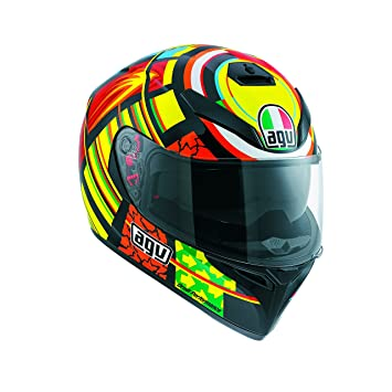 AGV Casco K-3 SV Top E2205, Color Amarillo/Negro/Rojo,