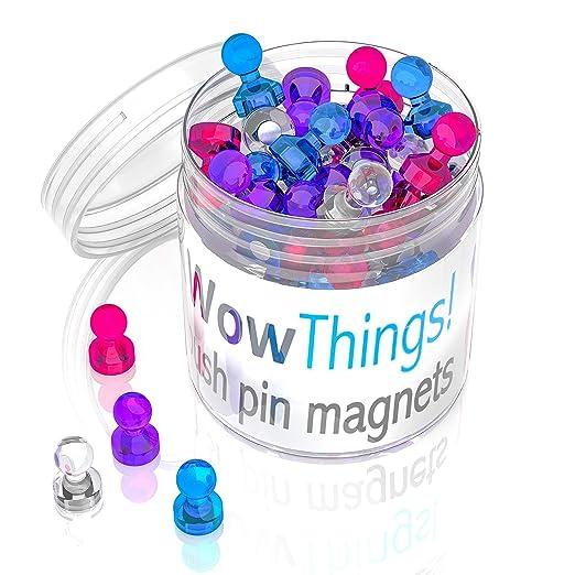 24 imanes de colores brillantes pequeños – imanes magnéticos para ...
