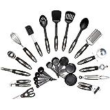 HULLR 25-Piece Kitchen Utensils Set, All Purpose Kitchen Tool Set, Stainless Steel & Nylon Cookware Set