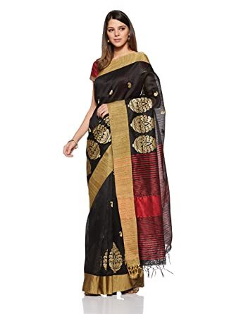 7c2a5446f8239 Aalia Art Silk Embroidered Saree with Blouse piece (8810-Black