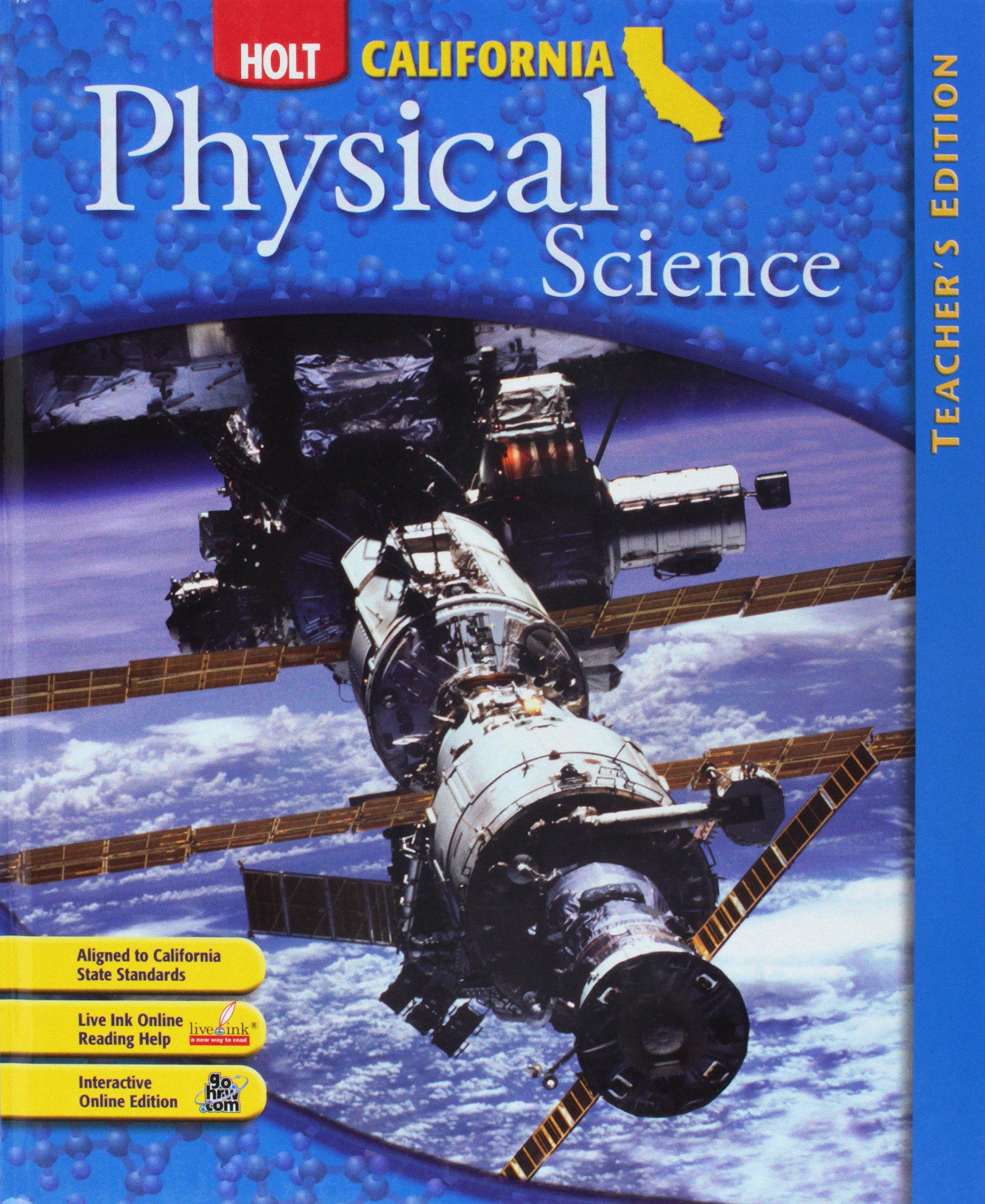 holt california physical science christie borgford 9780030464638 rh amazon com California Holt Science Books Holt California Physical Science Edition