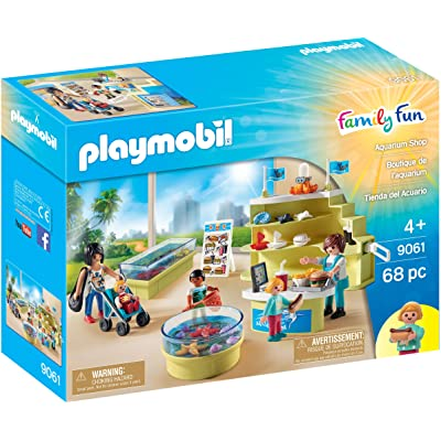 PLAYMOBIL Aquarium Shop Building Set: Toys & Games