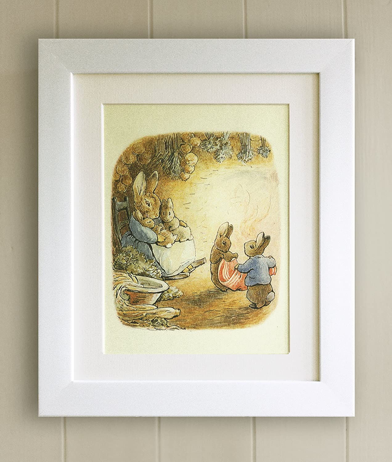 Beatrix Potter FRAMED PRINT, New Baby/Birth, Christening, Nursery ...