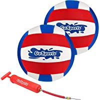 """GoSports Pro Neoprene Pool Volleyball - 2 Pack Waterproof Volleyballs with Ball Pump, Red, White & Blue, 8"""" Diameter"""