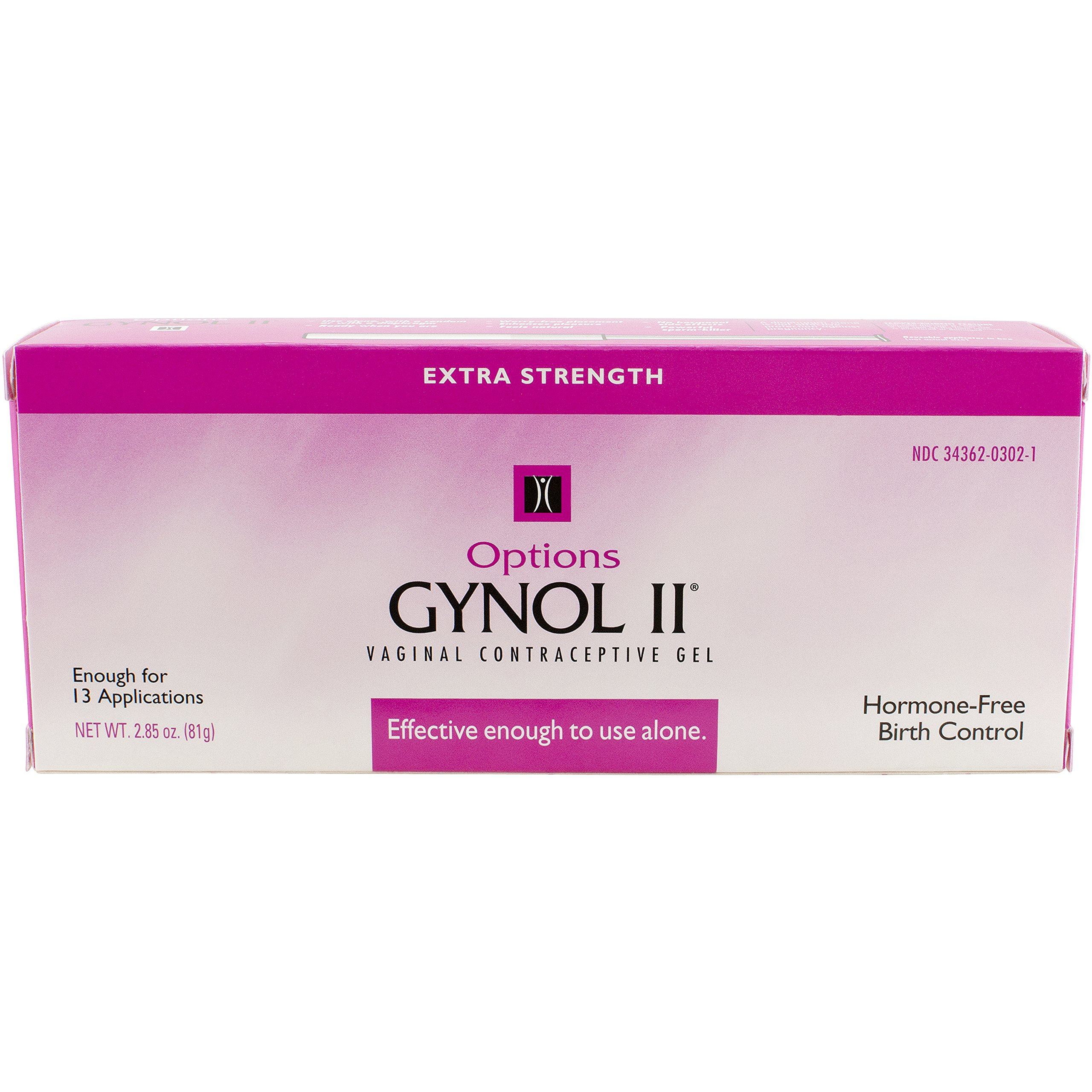 Options Gynol Vaginal Contraceptive Jelly Extra Strength, 2.85 Ounce by Options