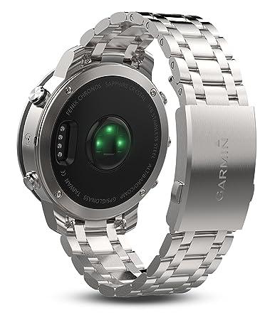Garmin Fenix Chronos Acero Exr Reloj, Talla Única: Amazon.es: Deportes y aire libre