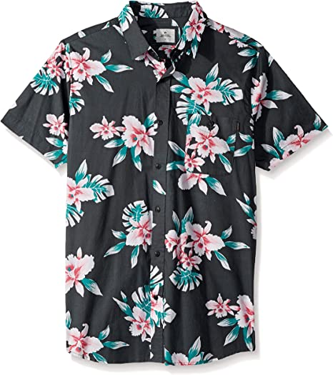 Rip Curl Easy Living Camisa de manga corta con botones para hombre - Negro - Small: Amazon.es: Ropa y accesorios