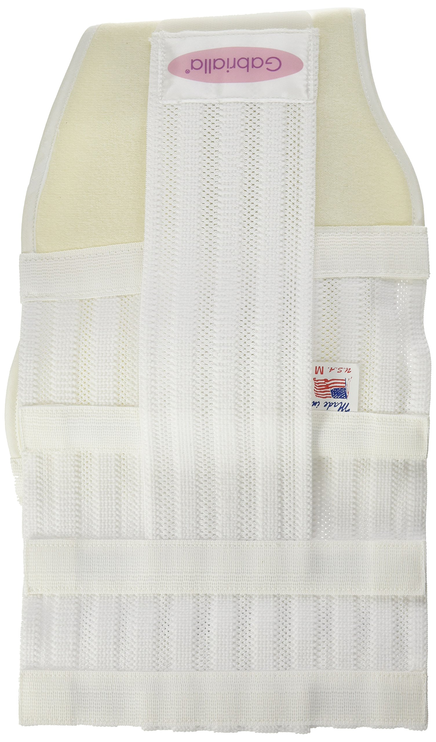 GABRIALLA Breathable Maternity/Back Support Belt For Multiples MS-99: White Medium by GABRIALLA (Image #1)